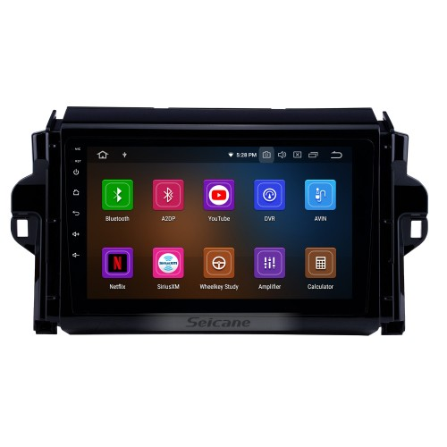 9 inch Android 9.0 HD Touchscreen auto stereo GPS Radio GPS Navigation System For 2015-2018 TOYOTA FORTUNER/ COVERT Bluetooth Support DVR Vedio Carplay 3G/4G WIFI Steering Wheel Control