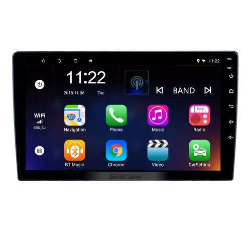 HD Touchscreen 9 inch Android 8.1 GPS Navigation Universal Radio RHD with Bluetooth AUX Music support DVR Carplay OBD Steering Wheel Control
