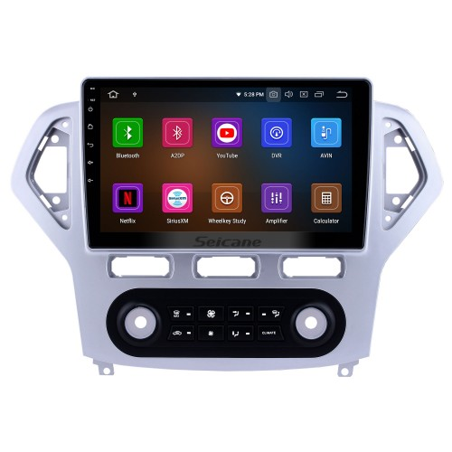 10.1 inch Android 9.0 Radio for 2007-2010 Ford Mondeo-Zhisheng Auto A/C Bluetooth HD Touchscreen GPS Navigation Carplay USB support TPMS OBD2