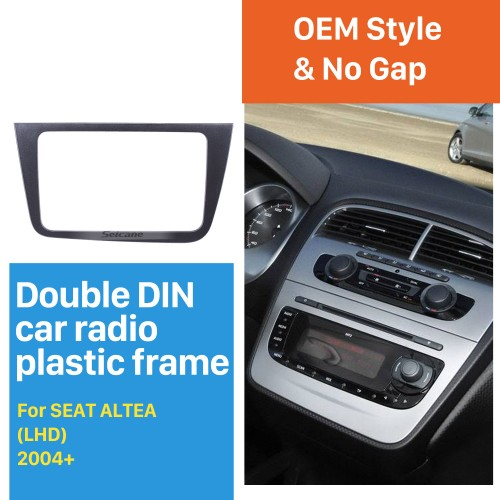 Double 2 Din Car Stereo Fascia for SEAT ALTEA Left Hand Drive (LHD) Radio Frame Dash DVD Player Trim Panel Installation Kit