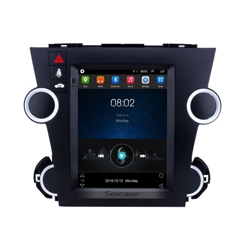 Android 9.1 9.7 inch GPS Navigation Radio for 2009-2014 Toyota Highlander with HD Touchscreen Bluetooth WIFI AUX support Carplay Mirror Link OBD2