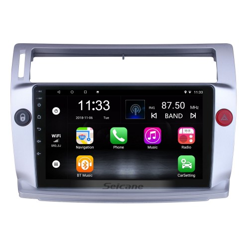 For 2009 Citroen Old C-Quatre Radio 9 inch Android 10.0 HD Touchscreen GPS Navigation System with Bluetooth support Carplay