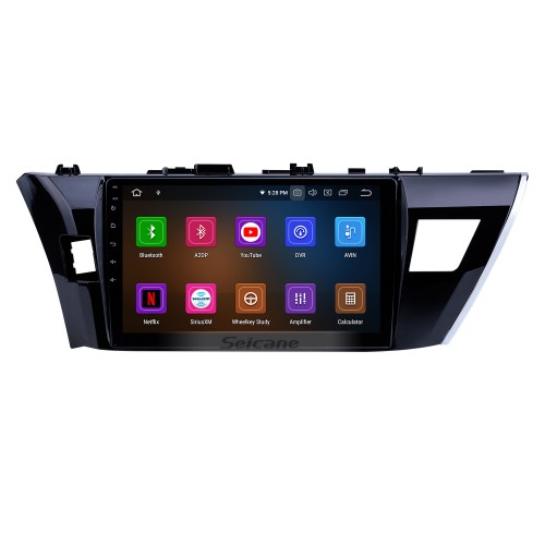 Android 9.0 10.1 inch 2013 2014 2015 Toyota Corolla (LHD) GPS System with HD 1024*600 Touchscreen Radio Bluetooth OBD2 DVR Rearview camera TV 1080P 4G WIFI Steering Wheel Control USB RDS Mirror link