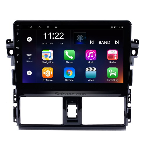 2013 2014 2015 2016 Toyota Vios 10.1 inch HD 1024*600 Touchscreen Android 10.0 Radio GPS Navigation system with Bluetooth WIFI 1080P Video DVR Mirror Link