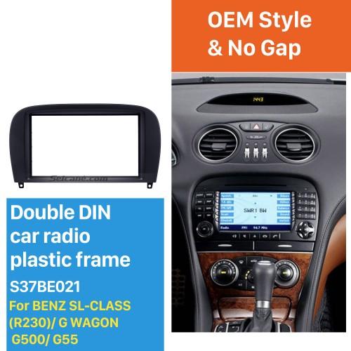 Delicate Double Din BENZ SL-CLASS (R230)/ G WAGON G500/ G55 Car Radio Fascia Stereo Dash Frame Panel Audio Fitting Adaptor