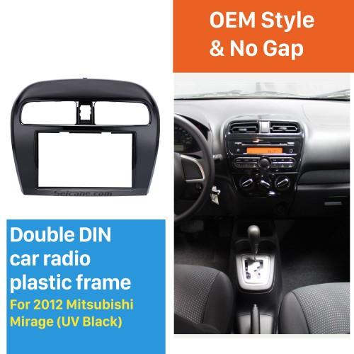 Excellent 2Din 2012 Mitsubishi Mirage Car Radio Fascia DVD Player Trim Installation Kit Audio Frame