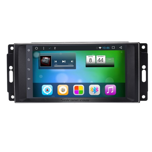 Android 8.1 touchscreen Radio for 2007 2008 2009 2010 Jeep Wrangler Unlimited with GPS navigation system DVD player Bluetooth music DVR Rearview camera 1080P Video