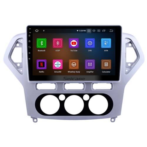 10.1 inch Android 9.0 Radio for 2007-2010 Ford Mondeo-Zhisheng Manual A/C Bluetooth Wifi Touchscreen GPS Navigation Carplay support Digital TV