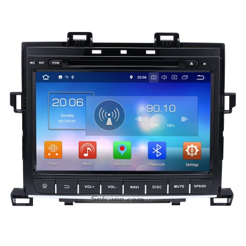 9 inch Android 5.1.1 GPS navigation system for 2007-2013 TOYOTA Alphard with DVD player Bluetooth Radio Mirror link multi-touch screen OBD DVR Rearview camera TV USB SD 3G WIFI Quad-core CPU 16G Flash