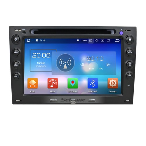 Renault Megane 2003-2009 Car Radio Android 8.0 DVD GPS Navigation Sytem with Bluetooth HD Touchscreen 4G WIFI AUX DVR 1080P DAB TPMS Backup Camera Mirror Link