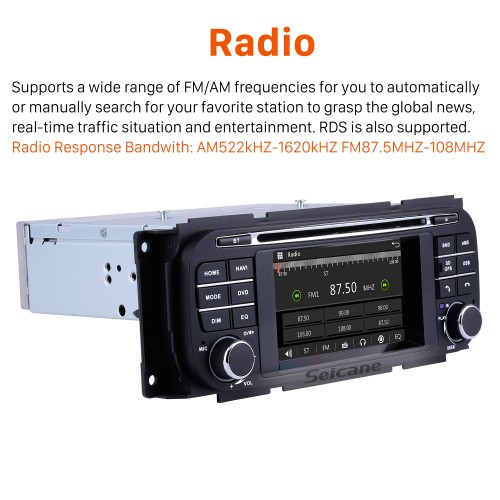 OEM Bluetooth DVD Player Radio For 2006 2007 2008 Jeep Commander Compass With 3G WiFi TV GPS Navigation System TPMS DVR OBD Mirror Link Rearview Camera Video Touch Screen