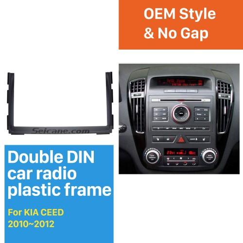 Great Double Din 2010 2011 2012 KIA CEED Car Radio Fascia DVD Gps Decorative Frame Dash Mount Surround Panel