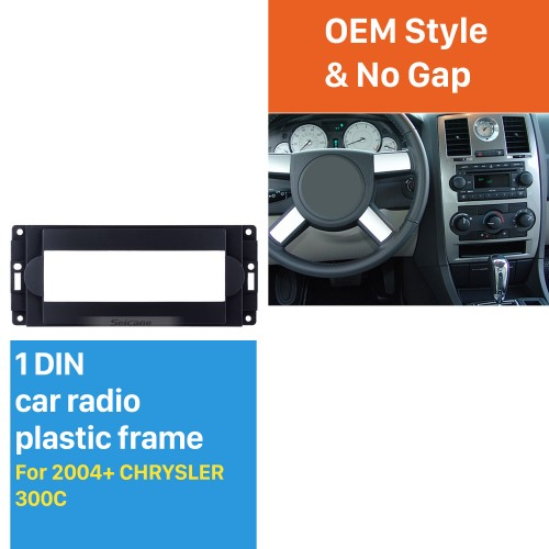 High Quality 1DIN Car Radio Fascia for 2004+ CHRYSLER 300C Stereo Dashboard Auto Mount Frame Installation Panel Kit Trim Car-styling