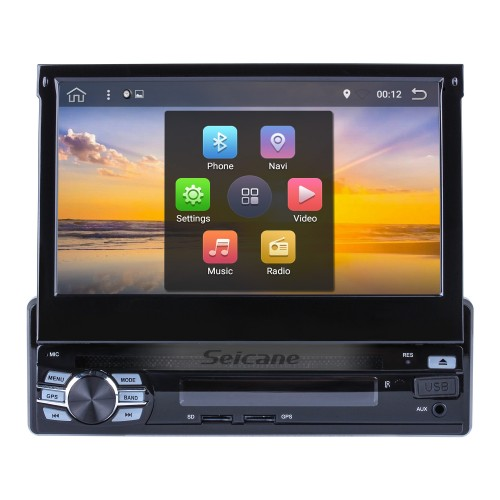 7 inch Android 7.1 HD Touch Screen 1 DIN universal Car Stereo Head Unit GPS navigation system Bluetooth WIFI Support OBD2 DVR Rearview camera TV  Mirror link Steering Wheel Control USB