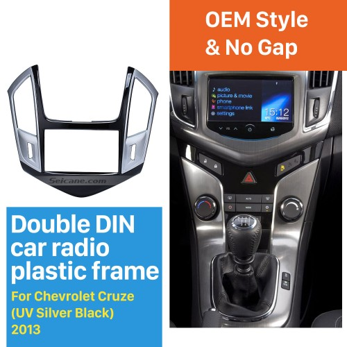 Top Quality 2DIN 2013 CHEVROLET Cruze Car Radio Fascia Stereo Dashboard Fitting Frame Surrounded Install Trim Panel