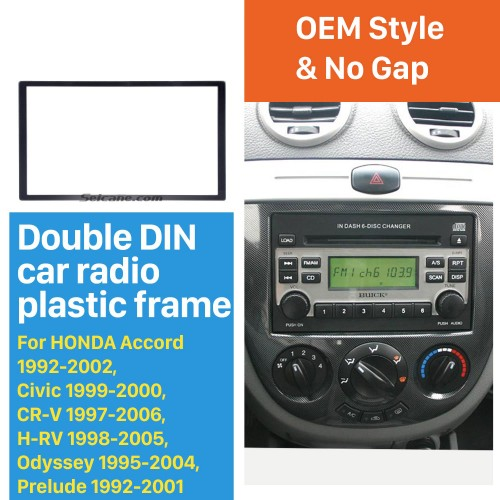 Universal Black 173*98mm Double Din Honda Accord Civic CR-V HR-V Odyssey Prelude automobile Car Radio Fascia Dash Mount Trim Install Frame DVD Player