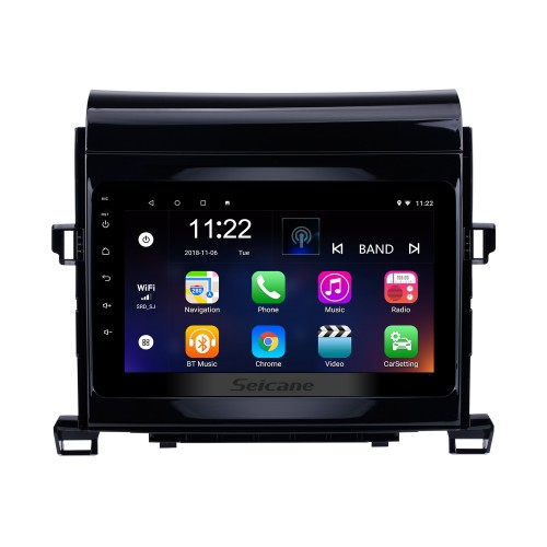 8 Inch 2009-2014 Toyota ALPHARD/Vellfire ANH20 Android 8.1 Radio GPS Navigation system with 3G WiFi Capacitive Touch Screen TPMS DVR OBD II Rear camera AUX Steering Wheel Control USB Bluetooth HD 1080P Video