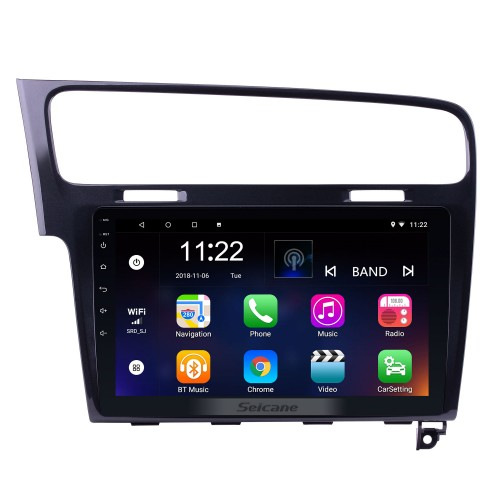 10.1 inch 1024*600 HD Touch Screen Android 8.1 Radio for 2013 2014 2015 VW Volkswagen Golf 7 GPS Navigation system with 3G WIFI Bluetooth Music USB Mirror Link RearView Camera 1080P Video OBD2