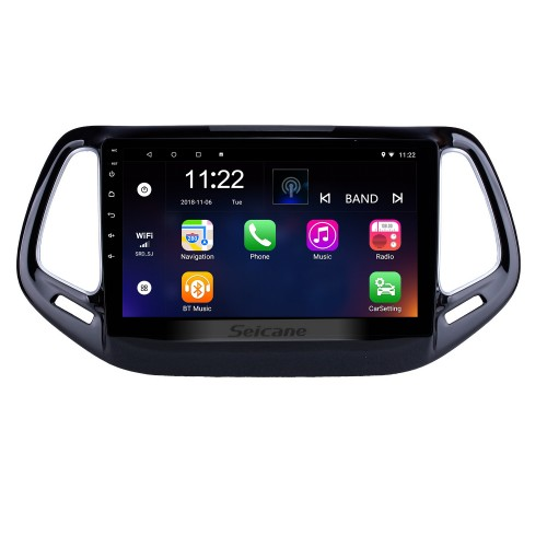 10.1 inch 2017 Jeep Compass Android 8.1 Head Unit GPS Navigation USB Mirror Link Bluetooth WIFI Support DVR OBD2 Backup Camera Steering Wheel Control