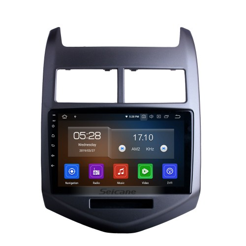 One Din 9 inch Android 10.0 Radio GPS Stereo for 2010 2011 2012 2013 Chevy Cheverolet aveo  Bluetooth USB WIFI Mirror Link DVR OBD2 Steering Wheel Control