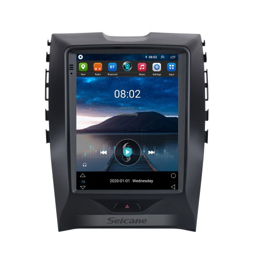 2015-2018 Ford Edge 9.7 inch Android 10.0 GPS Navigation Radio with HD Touchscreen Bluetooth support Carplay Rear camera