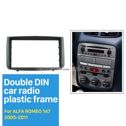 New Arrival DOUBLE DIN Car Radio Fascia for 2005-2011 ALFA ROMEO 147 Dashboard DVD Player Installation Frame Trim Panel Kit