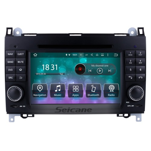 Android 8.0 GPS Navigation system for 2004-2012 Mercedes Benz A class W169 A150 A170 with DVD Player Touch Screen Radio Bluetooth WiFi TV Backup Camera steering wheel control USB SD HD 1080P Video