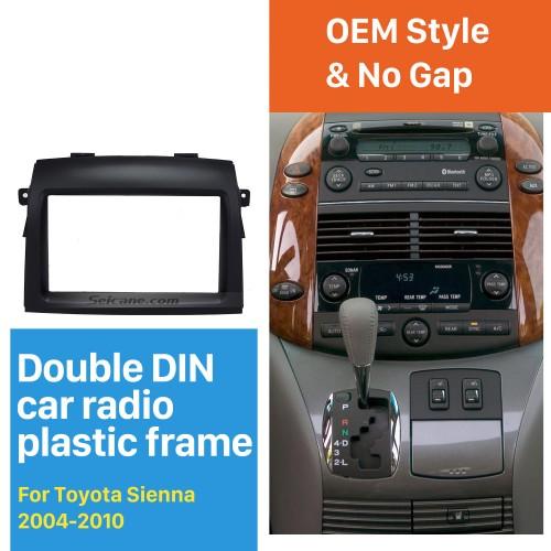 Excellent 2 Din 2004-2010 Toyota Sienna Car Radio Fascia Dash CD Frame Panel DVD Player