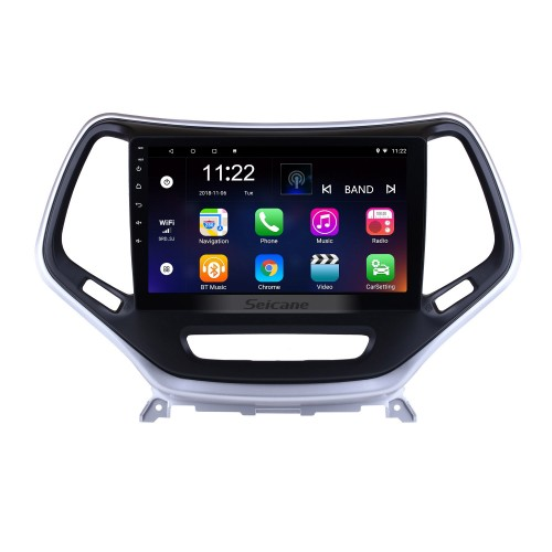 2016 Jeep Grand Cherokee 10.1 inch Android 8.1 Touchscreen Radio GPS Navigation System WIFI Bluetooth Steering Wheel Control support OBD2 DVR Backup Camera