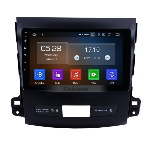 9 Inch Android 9.0 Touch Screen radio Bluetooth GPS Navigation system for 2006-2014 Mitsubishi OUTLANDER Support TPMS DVR OBD II USB SD 3G WiFi Rear camera Steering Wheel Control HD 1080P Video AUX