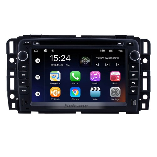 7 inch Android 9.0 for 2007 2008 2009-2012 General GMC Yukon/Chevy Chevrolet Tahoe/Buick Enclave/Hummer H2 Radio With HD Touchscreen GPS Navigation System Bluetooth support Carplay