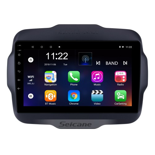 2016 Jeep Renegade 9 inch Touchscreen Android 10.0 Radio GPS Navigation system with USB Bluetooth WIFI 1080P Aux Mirror Link Steering wheel control
