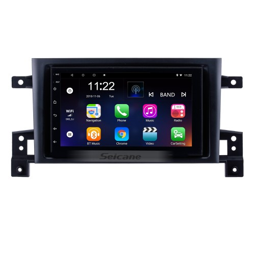 7 Inch Aftermarket Android 8.1 Touch Screen GPS Navigation system For 2005-2015 SUZUKI GRAND VITARA Support Bluetooth Radio TPMS DVR OBD II Rear camera AUX Headrest Monitor Control USB  HD 1080P Video 3G WiFi