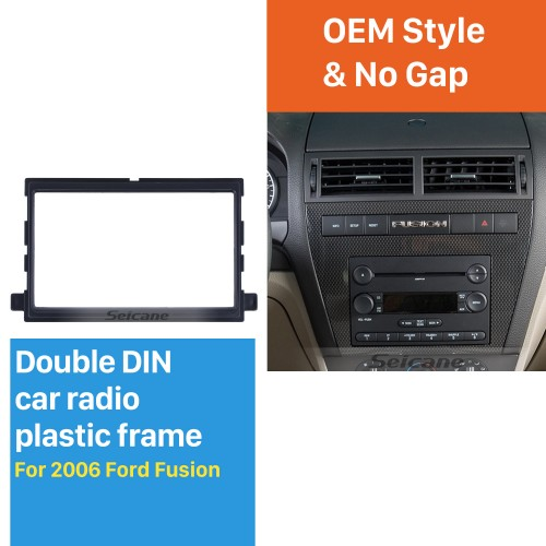 Exquisite Double Din Car Radio Fascia for 2006 Ford Fusion Trim Bezel Dash Mount Frame Auto stereo Adapter