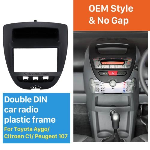 Great 2Din Toyota Aygo Citroen C1 Peugeot 107 Car Radio Fascia DVD Panel Stereo Dash CD Trim Installation Frame