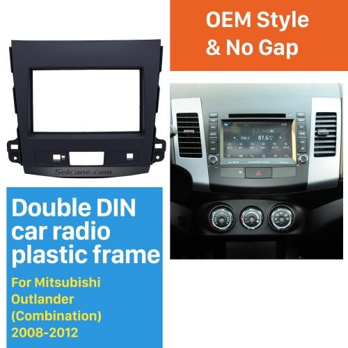 2Din 2008-2012 Mitsubishi Outlander Car Radio Fascia Auto Stereo Interface Panel In Dash Mount Frame Kit