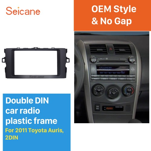 Elegant Double Din 2011 Toyota Auris Car Radio Fascia Trim Bezel Frame Panel Stereo Dash Kit Installation