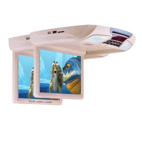 Fashionable Designed Universal Slot-in Roof Mount Player with HD 1080P Video 11.6 inch Screen Remote Control Multi OSD Languages Support HDMI IR/FM Transmitter Video Input Output