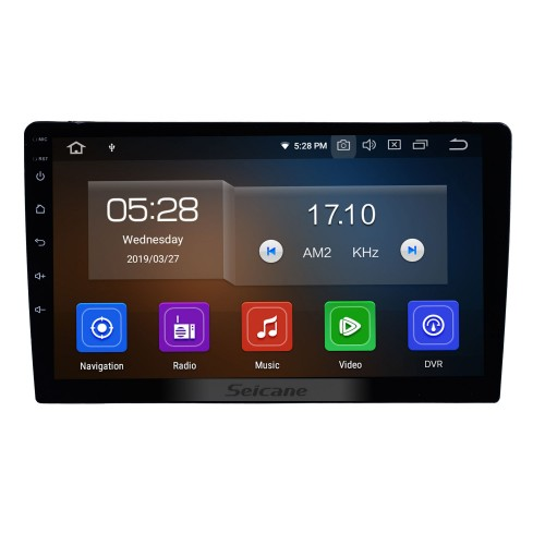Universal 9 inch HD Touch Screen Android 9.0 Radio GPS Navigation system with Bluetooth Music WIFI Steering Wheel Control support 4G USB Carplay DVD Player
