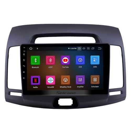 2007-2011 Hyundai Elantra Android 10.0 9 inch GPS Navigation Radio Bluetooth HD Touchscreen USB Carplay Music support TPMS OBD2 Steering Wheel Control