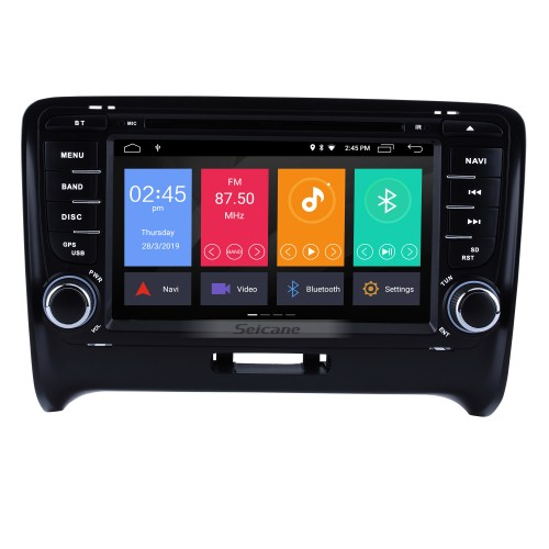 OEM Android 9.0 2006-2013 Audi TT Radio Replacement with HD 1024*600 Multi-touch Capacitive Screen Sat Nav Car Audio System 4G WiFi Bluetooth Music CD DVD Player AUX HD 1080P Video Backup Camera