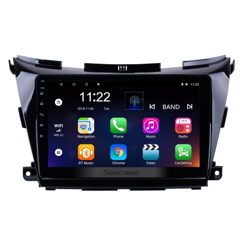 10.2 inch HD 1024*600 Touchscreen 2015 Nissan Murano GPS Navigation System With OBDII Rear Camera AUX Steering Wheel Control USB 1080P 3G WiFi Capacitive Mirror Link TPMS DVR Bluetooth