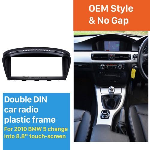 Top quality 8.8 Inch 2010 BMW 5 Car Radio Fascia Autostereo Interface Audio Player Dash CD Trim Bezel frame