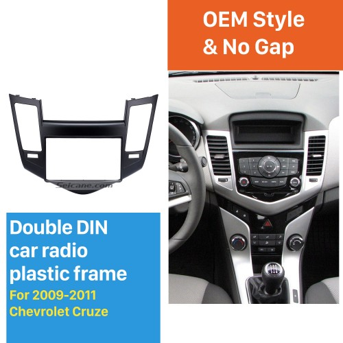 Double Din 2009-2011 Chevrolet Cruze Car Radio Fascia Stereo Dashboard Install frame Modified Surrounded Trim Panel Kit
