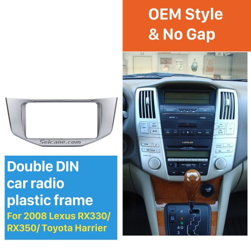 Great Quality 2Din 2008 Lexus RX330 RX350 Toyota Harrier Car Radio Fascia DVD Frame Auto Stereo Panel Adaptor