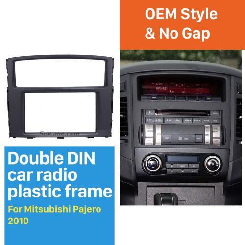 Classic Double Din 2010 Mitsubishi Pajero Car Radio Fascia Stereo Installation Dash Mount Adaptor DVD Frame