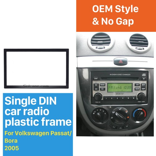 173*98mm Double Din 2005 Volkswagen Passat Bora Car Radio Fascia DVD Panel Stereo Player Audio Fitting frame Adaptor