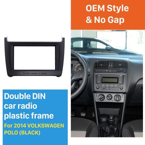 Latest Double Din 2014 Volkswagen Polo Car Radio Fascia Dash Mount CD Trim Stereo Frame Audio Fitting