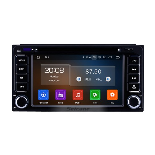 6.2 inch Android 9.0 GPS Navigation Radio for 1996-2018 Toyota Vitz Echo RAV4 Hilux Terios with HD Touchscreen Carplay Bluetooth support Digital TV
