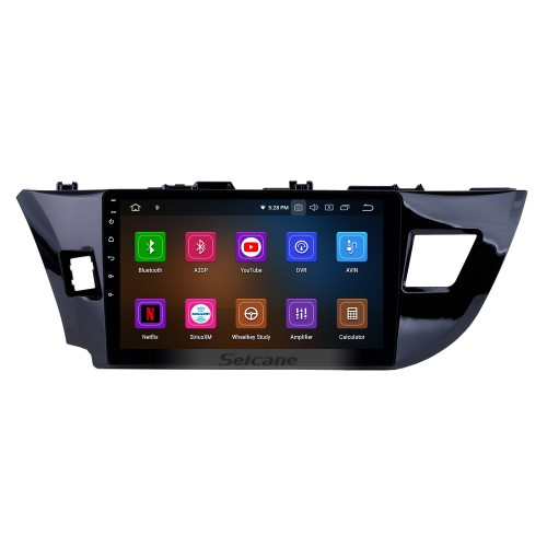 OEM 10.1 inch Android 9.0 HD Touchscreen Bluetooth Radio for 2014 Toyota Levin with GPS Navigation USB FM auto stereo Wifi AUX support DVR TPMS Backup Camera OBD2 SWC